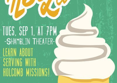 Event for a missions department